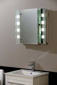 bathroom triple cabinet mirror with upper lighting for bathroom
