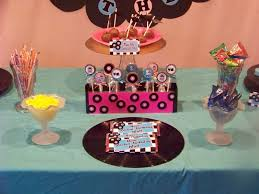 50s sock hop party dessert table everyday parties