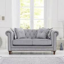 fabric chesterfield sofa montrose studded u0026 buttoned grey fabric 3 seater chesterfield sofa