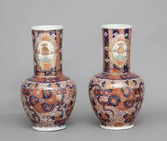 Porcelain Vases Uk Real Antique Pair Of 19th Century Imari Vases