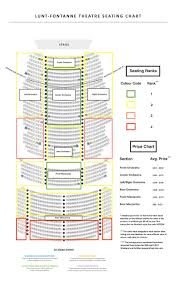 Chicago Theater Map by Lunt Fontanne Theatre Seating Chart Charlie U0026 Chocolate Factory
