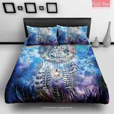 dream catcher on nebula galaxy cloud bedding sets home gift home