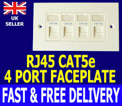 way lan rj45 ethernet network faceplate u0026 cat5 module