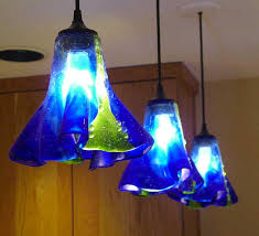 Blue Pendant Light by Fine Cobalt Blue Pendant Lights Art Glass Kitchen Island Mini
