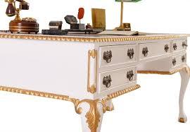 bureau blanc et bureau anglais chippendale acajou blanc doré meuble de style