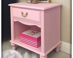 pink nightstand etsy