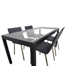 Room And Board Dining Room Chairs 44 Off Room U0026 Board Room U0026 Board Rectangle Metal Glass Dining