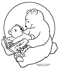 coloring u0026 activity pages storytime bears coloring page