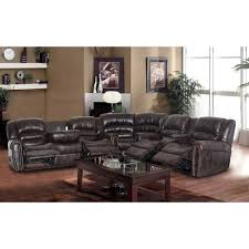 Seven Piece Reclining Sectional Sofa by 28 Alessia Leather Sofa 3 Piece Set Pemberly Row 3 Piece