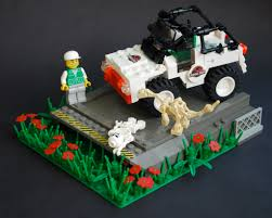 lego jurassic world jeep wrong turn apparently robert had made an unfortunate mista u2026 flickr