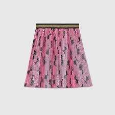 pleated skirt children s lurex bows pleated skirt gucci clothing 4 12