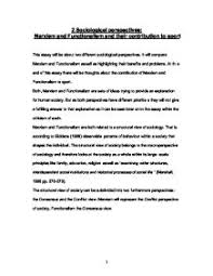 Functionalist view on Same Sex Families   GCSE Sociology   Marked     Marked by Teachers