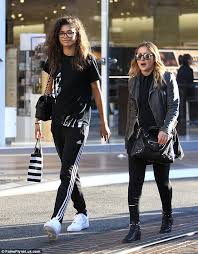 zendaya casual zendaya shows as she dresses in sporty tracksuit