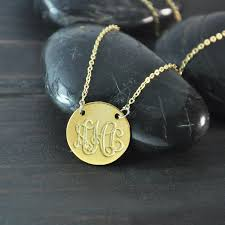 gold plated monogram necklace 18k gold plated monogram necklace initials necklace monogram