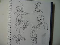 dragon ball z buu sketches by dawx22 on deviantart