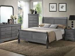 Minimalistic Bed Apply Grey Bedroom Furniture For Calming Minimalistic Style