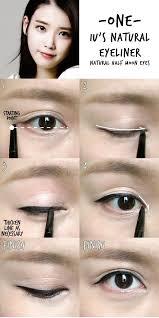 liquid eyeliner tutorial asian iu s natural eyeliner makeup pinterest natural eyeliner