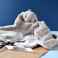 Bunny Comforter Personalised Beige Bunny Comforter Blanket By The Alphabet Gift
