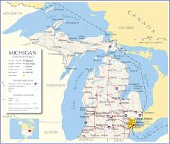 America Map With States by Michigan Map Michigan State Map Michigan Road Map Map Of Michigan