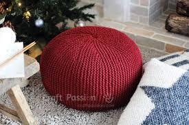 pouf knitting pattern free craft passion