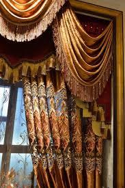 Valance Curtains Living Room European High End Luxury High Precision Valance Cloth Curtain