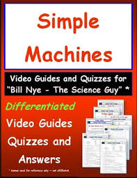 differentiated video worksheet quiz u0026 ans for bill nye simple