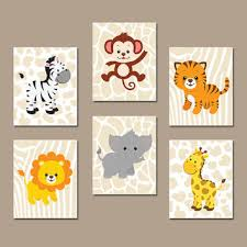 Animal Wall Decor For Nursery Best Jungle Animal Wall Products On Wanelo Pared Diseños