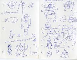 concept sketches for 3d collaborative animation project on scad