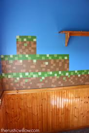 diy sponge painted minecraft walls the rustic willow when we were first researching minecraft walls we came across countless murals and decals for sale however they just weren t in our budget