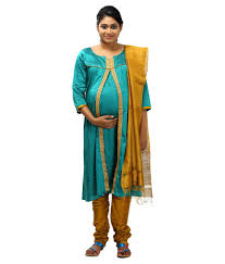 ziva maternity wear ziva maternity wear blue cotton salwar suit