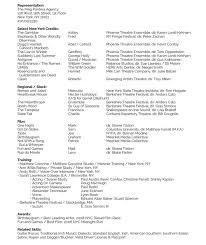 Resume For Theatre Resume U2014 Matt Stapleton Actor