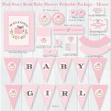 baby shower book theme instant pink storybook baby shower package book theme