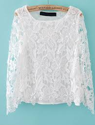 white lace blouses white sleeve embroidered lace blouse abaday com