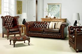 vintage leather chesterfield sofa traditional beige carpet for cozy family room ideas with leather