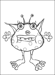 scary monster coloring pages kindergarten color zini