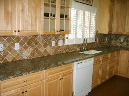 tiles backsplash medium oak cabinets with granite countertops