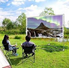 Backyard Projector Screen by 100inch For 4k Projection Screen Setup Stand Wrinkle Portable