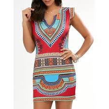 tribal dress bodycon cap sleeve tribal dress in s twinkledeals