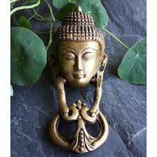 vintage brass buddha door knocker hand crafted door knocker