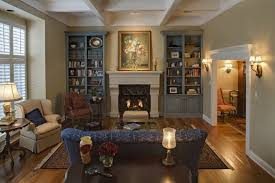 Classic Fireplace With Neutral Interior Color For Beautiful Family - Beautiful family rooms