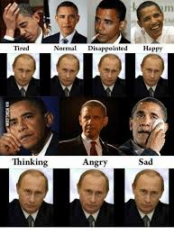 Obama Putin Meme - m tired normal disappointed happy thinking angry sad disappoint
