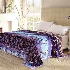 best fabric for sheets home textiles cool plum pattern blankets for bed throw bedclothes