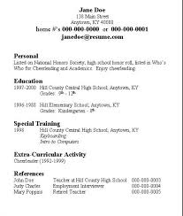 First Resume Maker My First Resume Template Resume Examples For Teens 12 Free High