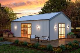 Steel Barn Home Kits Sheds By Home Depot 2 Story House Livable Sheds Cabin Fever