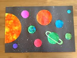 solar system craft preschool craft space craft kids craft