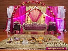 stage decoration with sarees crowdbuild for