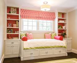 bedroom beautiful daybed decor with pink rolled curtain and big