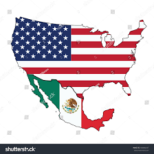 Us Mexico Map Fileusa Flag Mapsvg Wikimedia Commons Usa Watercolor Vector Map