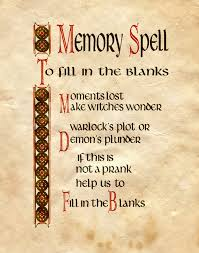 Halloween Poems About Witches Memory Spell To Fill In The Blanks Books Wicca And Witches