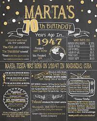 birthday chalkboard 70th birthday chalkboard 1948 poster 70 years ago in